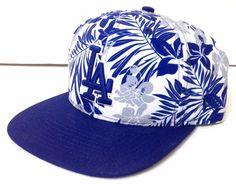 Tropical Floral LOS ANGELES DODGERS SNAPBACK HAT Polyester Blue White Hawaii LA #NewEra #LosAngelesDodgers