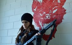 Jennifer Goines from 12 monkeys, she is crazy but awesome.