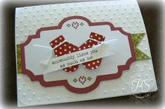 I love the mittens (Mitten punch) and Snow Much Fun sentiment which are added to a Snow Festival Designer Printed Tag on Penny's cute card.
