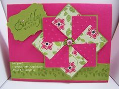 Faux Pinwheel Card Sunday Stamping Technique