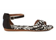Black Woven Women's Correa Sandals | TOMS.com #toms One of the more fashionable ones that I might actually wear!