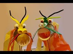 Dragon Cup Puppet Craft - YouTube