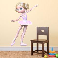 Vinilos Infantiles: Bailarina #vinilo #pared #ballet #decoracion #infantil #TeleAdhesivo
