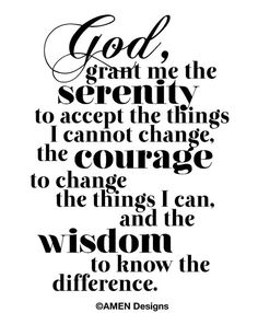 Printable Typography.Serenity Prayer. 8x10. DIY. by AmenPrintables