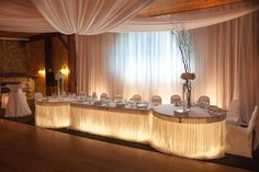 Rustic chic wedding reception venue, the Victoria room at Hernder Estate Wines as decorated by stuffbychris in Niagara, Ontario Canada