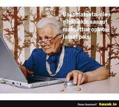 Uskomatonta, olen vihdoinkin... Business Education, Social Media Content, Workplace, Blog, Reyes, Older Women, Grief, Laughter, Medicine