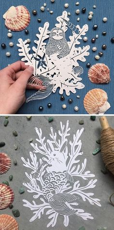 Catfriendo is an artist who uses a swivel knife to transform pieces of wite paper into whimsical illustrations. Cut Paper, Paper Art, Art Origami, Papercutting, Buy Local, Paper Folding, Pattern Illustration, Cut Outs, Paper Crafting