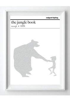 The Jungle Book Text Art Poster Rudyard Kipling by PoppyLanePrints