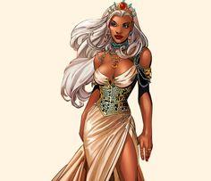 Ororo Munroe in Black Panther Storm Marvel, Marvel Dc, Marvel Comics, Female Black Panther, Ororo Munroe, The New Mutants, Female Superhero, Pretty Black Girls, Wonder Woman