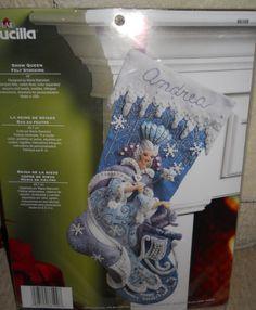 Bucilla 18 Snow Queen Felt Stocking Kit