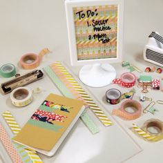 How to decorate your school supplies with washi tape diys идеи для проекта, Decorate School Supplies, School Supplies Organization, Locker Organization, Office Supplies, Back To School Supplies Diy, Back To School Diy Organization, College Supplies, Organizing, Washi Tape Planner