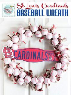 Plush baseball wreath