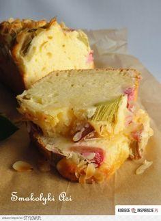 'Yogurt Cake with Rhubarb' Cake Recipes, Vegan Recipes, Dessert Recipes, Cooking Recipes, Polish Recipes, Moist Cakes, I Love Food, Cupcake Cakes, Breakfast Recipes