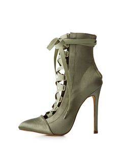 These Cool AF Lace up booties. This color. This style. Wear it with a sweatsuit or an athleisure outfit. NOW. #booties #boots #kimkardashian #affiliate