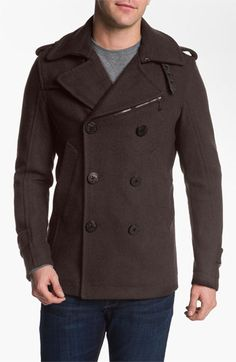 DIESEL® 'Wittory' Double Breasted Peacoat | Nordstrom