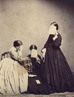 Portrait of three women, taken by an unknown photographer in the 19th century.