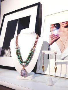 RM Liliana Bib and Spiked Chain Earring