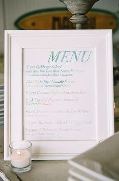 And this beach wedding dinner menu? Oh yes.