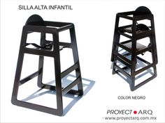 Silla Alta Bebes periquera Negro 1450
