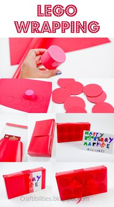 Craftibilities: LEGO present - Wednesday WRAPPING ideas