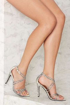 Nasty Gal Santana Strappy Heel - Snake - What's New