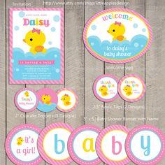 Rubber duck baby shower.