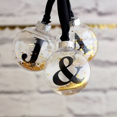 Personalised Letter Baubles