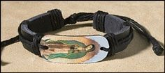 Our Lady of Guadalupe Leather Bracelet