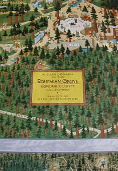 cartograph of Bohemian Grove - go there. see what happens.