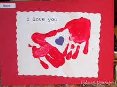 Could use red, purple or pink finger paint. Use a sticker or a sharpie to make the heart in the middle. Valentine's day, Mother's day, Father's day,etc.