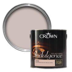 Crown Indulgence Mink Matt Emulsion Paint 2.5L   Departments   DIY at B&Q