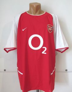 3d2304cfe Arsenal 2002 2003 2004 home football shirt by Nike Ars Gunners jersey  soccer