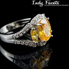 Would you like a yellow diamond for your engagement ring? #IndyFacets #YellowDiamonds #CustomJewelry #Love #Wedding #Unique #WeddingBand…