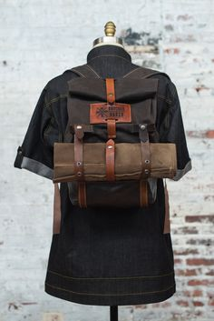 Chef Backpack and Knife Roll Travel Bag