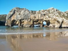 10. Playa de Cuevas del Mar, Asturias Costa, Asturian, Asturias Spain, Paraiso Natural, Mount Rushmore, Road Trip, Mountains, Photo And Video, Beach