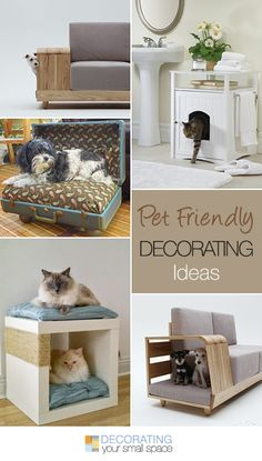Pet Friendly Decorating: Fitting our furry friends into a small home space. Pet Beds, Dog Bed, Diy Inspiration, Creation Deco, Pet Furniture, Animal Projects, Home And Deco, Diy Stuffed Animals, Home Projects