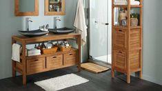 Une salle de bain sous pente ou sous combles en 52 photos for Salle de bain sol noir