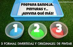 3 FORMAS DIVERTIDAS Y ORIGINALES DE PINTAR. Parte I (vídeo)