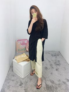 Too lazy to go out? Lounge around your crib in style in this deep slit shirt dress from Daily About!