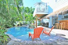 Island Retreat, 4805 2nd Avenue, Holmes Beach, FL 34217, Key West meets Anna Maria Island in a dream vacation home. Island Retreat combines the best of both worlds, oozing a...