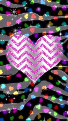 Cute heart and chevron wallpaper Bow Wallpaper, Heart Iphone Wallpaper, Chevron Wallpaper, Animal Print Wallpaper, Glitter Wallpaper, Cellphone Wallpaper, Pattern Wallpaper, Wallpaper Backgrounds, Valentine Wallpaper