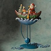 Rowing Santa Balance Toy