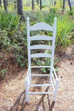 You won't look at chairs the same way after seeing her garden idea