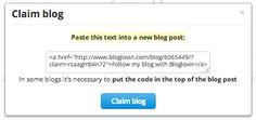 claiming your blog on bloglovin