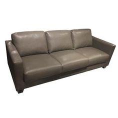 Leather Sofa in Charcoal | Nebraska Furniture Mart