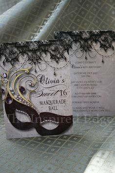 Sweet Sixteen Masquerade Party Invitation Invite Printed Or Digital Printable