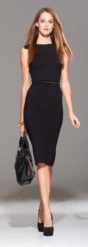 Her style | LBD | Little Black Dress | Feminine | Perfect work-chic | Business | Church | Wedding | Attire