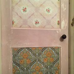 Wallpaper door in my farmhouse in Shropshire.