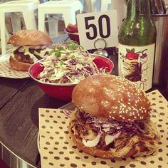 Crumbed Fish Fillet Burger and BBQ Pulled Pork Red Slaw Burger @ Chur Burger, Surry Hills.