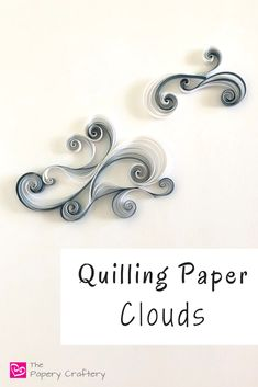 Quilling Paper Clouds How to Make Quilling Paper Clouds ~ Use paper swirls to create fluffy storm clouds, bright sunset … Quilling Instructions, Paper Quilling Tutorial, Paper Quilling Cards, Paper Quilling Jewelry, Paper Quilling Patterns, Quilled Paper Art, Neli Quilling, Quilling Paper Craft, Paper Crafts